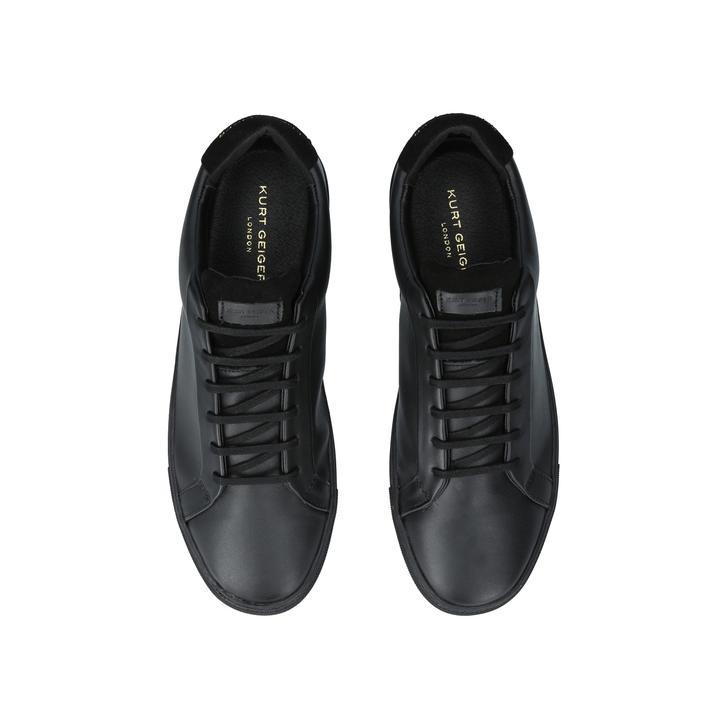 Lane Mens Black Leather Low Top