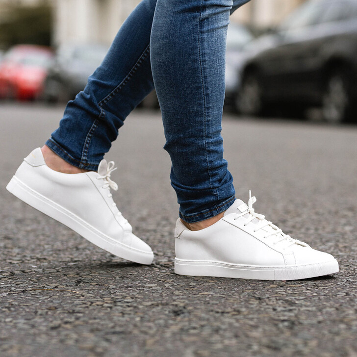 6a92afee6c32 Donnie White Low Top Trainers By Kurt Geiger London