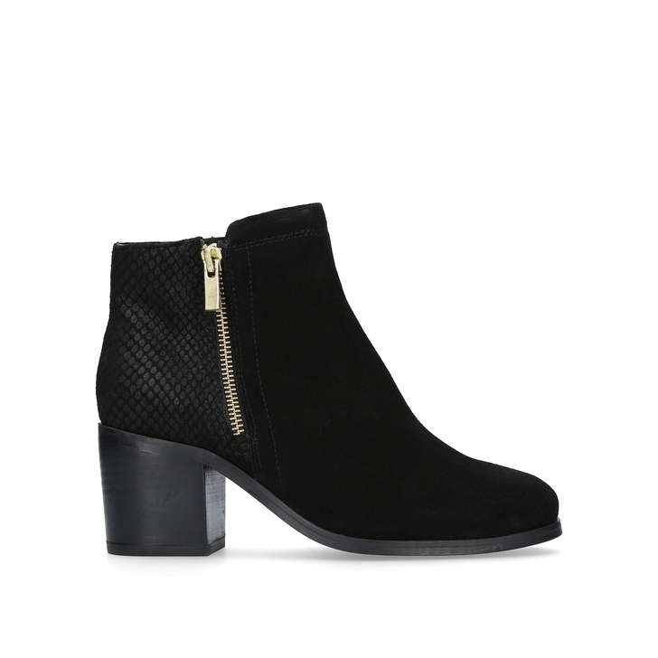black high heel boots ankle