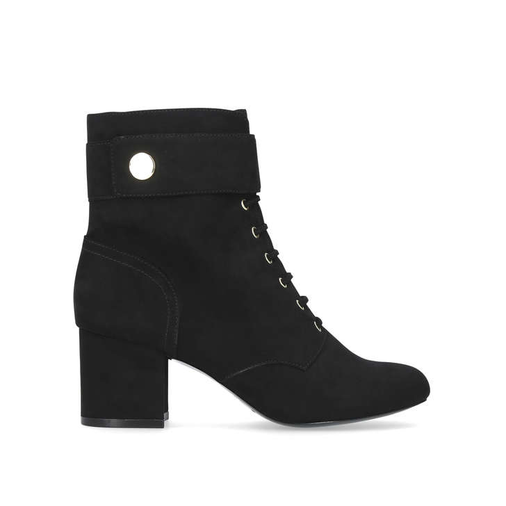 94414211b89 Querna Black Mid Heel Ankle Boots By Nine West