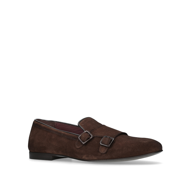 Albus Brown Monk Shoes By Kurt Geiger