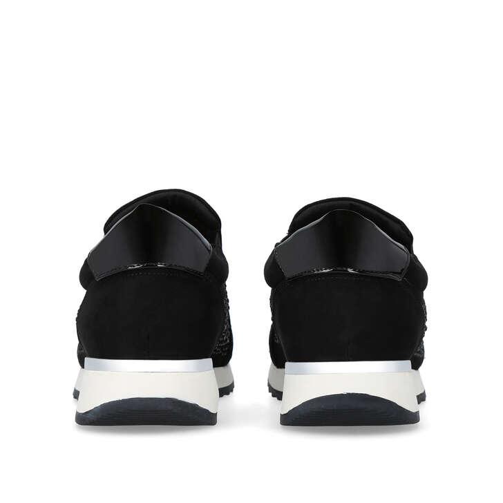 Jazz Black Embellished Slip On Sneakers