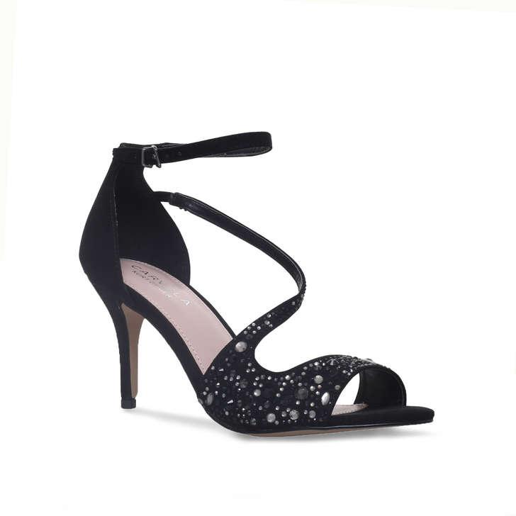 144d8c01690 Keo Black Mid Heel Sandals By Carvela