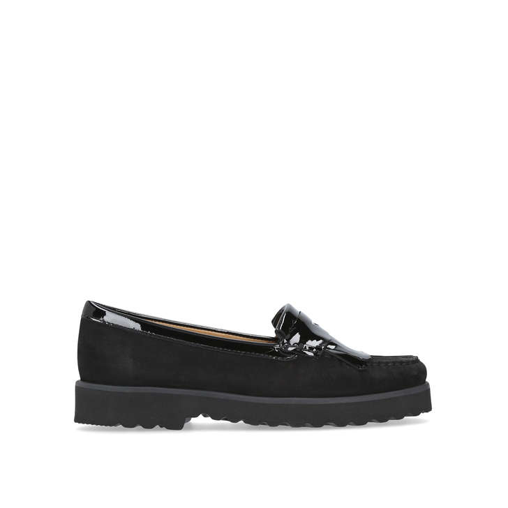 CLAIRE Black Flat Loafers by CARVELA