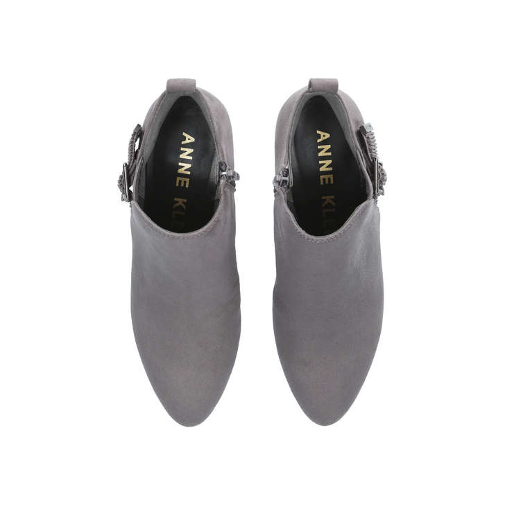 look out for on feet at on sale Anni Grey Low Heel Ankle Boots By Anne Klein | Kurt Geiger