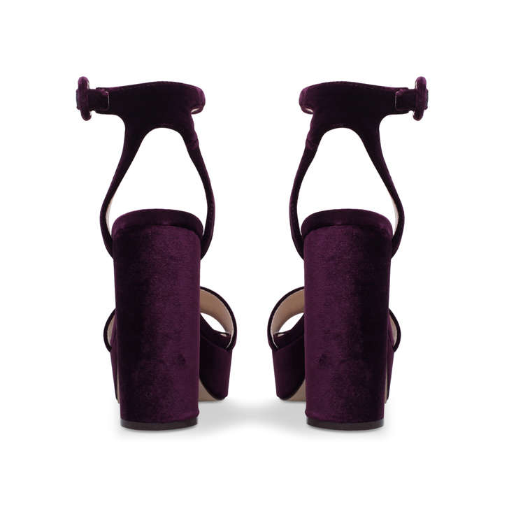 46dae86d6c35 Krewl Purple High Heel Platform Sandals By Nine West