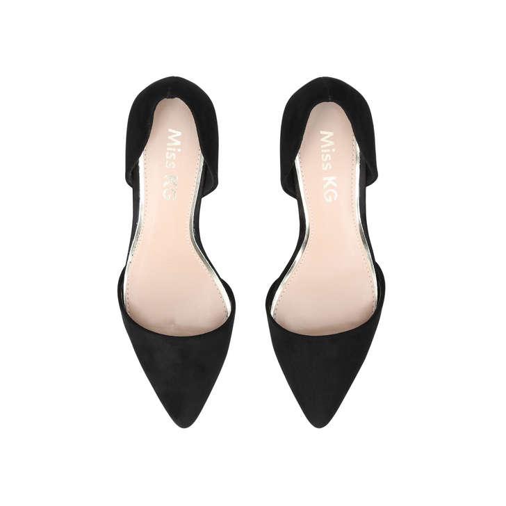 880049404b32 Celina Black Mid Heel Court Shoes By Miss KG