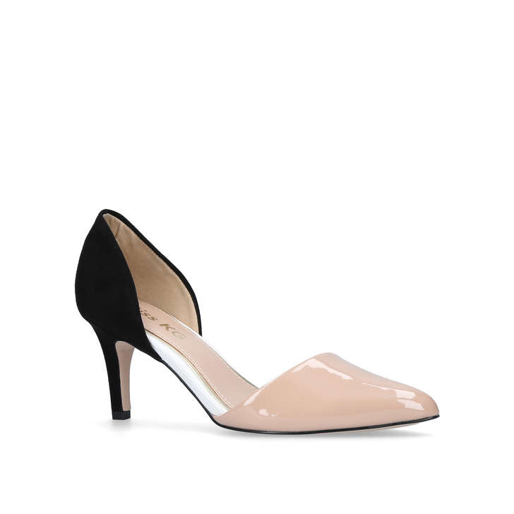 e02f9eda8deb Celina Nude Mid Heel Court Shoes By Miss KG
