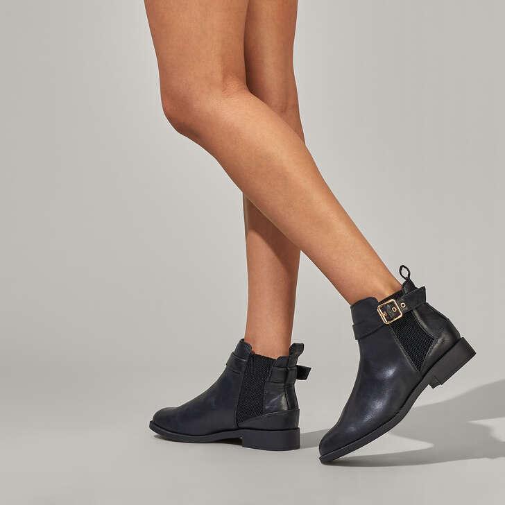 781b210a34c Jayde Black Flat Chelsea Boots By Miss KG