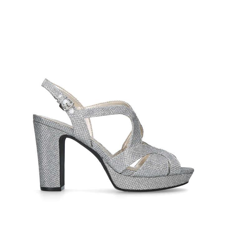 df3cff484e8 Petria Silver Mid Heel Sandals By Anne Klein