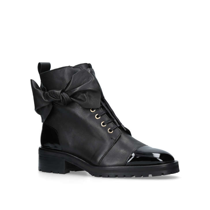 daze black flat ankle boots by kurt geiger kurt