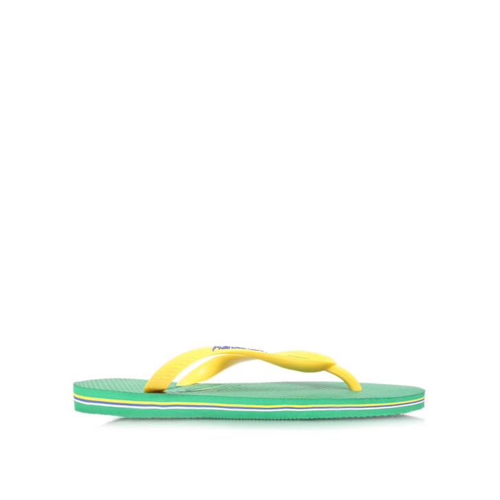 619edb7ff844 Brasil Logo Ii Green Flip Flops By Havaianas