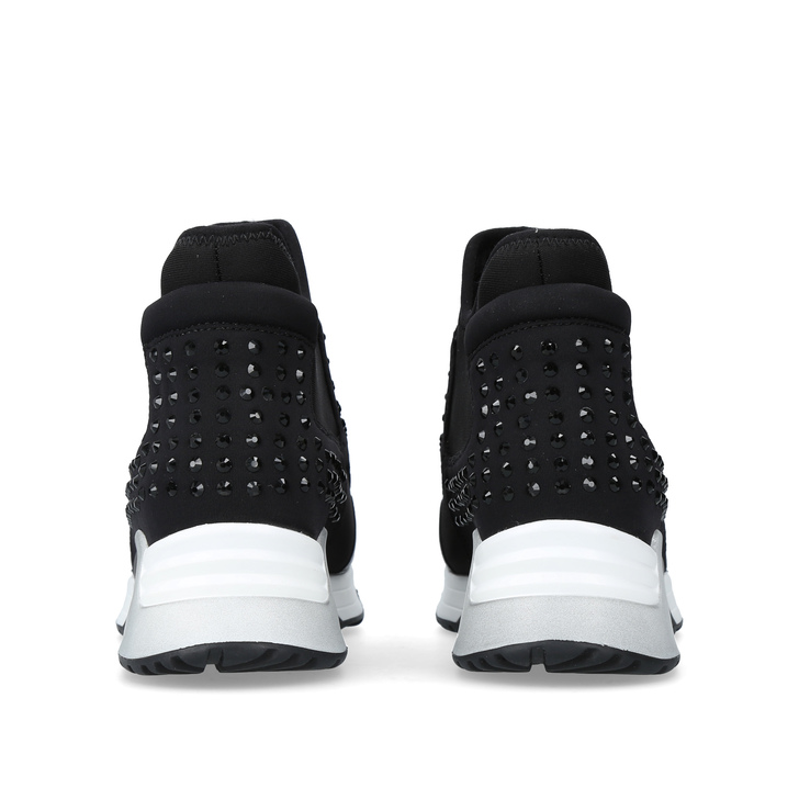 9f0c2d0fda88 Laser Stone Black High Top Trainers By Ash