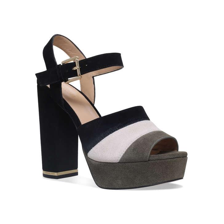 61c59c29fed Anise Platform Black High Heel Platform Sandals By Michael Michael ...