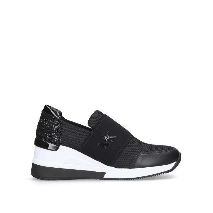 Black Patent School Shoes Slip Ons