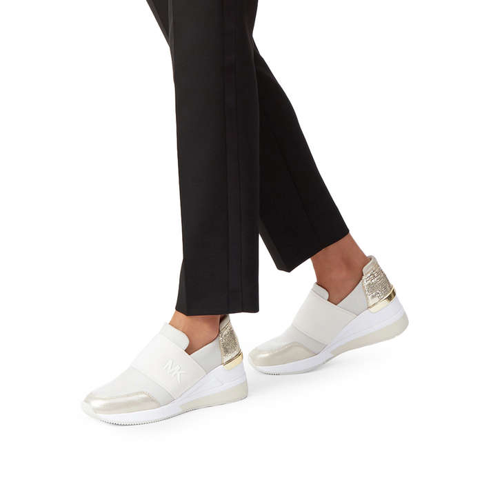a753a4601 Felix Trainer Gold Low Top Trainers By Michael Michael Kors | Kurt Geiger
