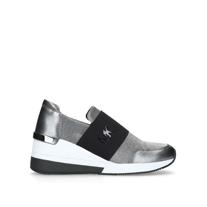 factory price 59272 58f63 Felix Trainer Silver Low Top Trainers By Michael Michael Kors   Kurt Geiger