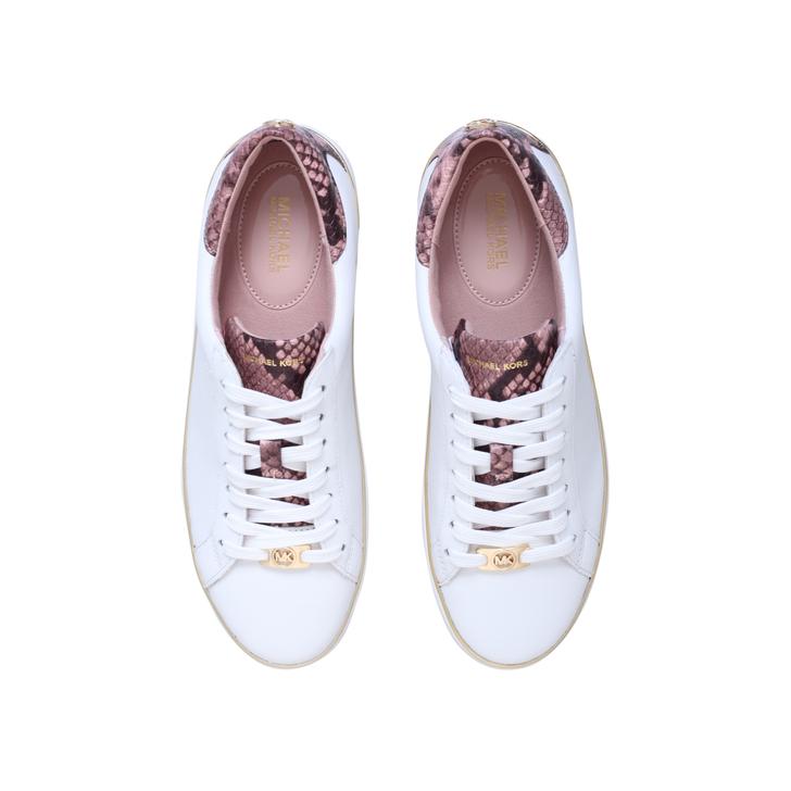 4385b0b7e53 Kyle Sneaker White Lace Up Trainers By Michael Michael Kors | Kurt Geiger