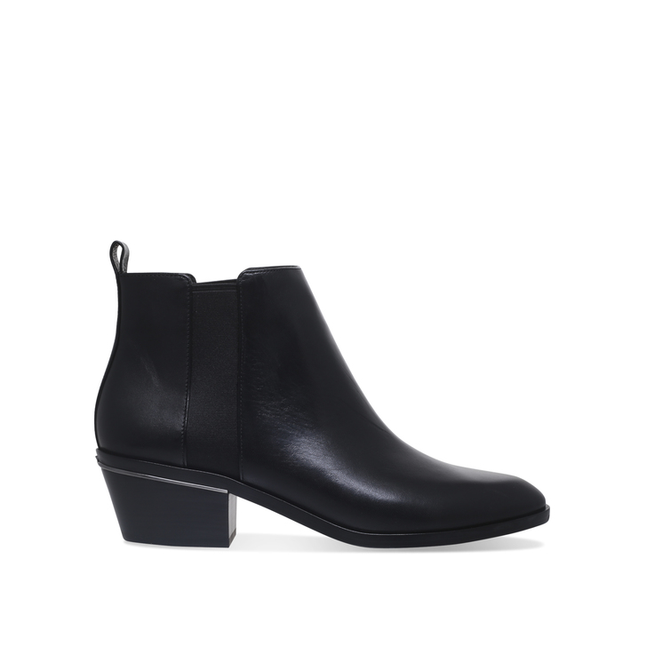 crosby bootie black mid heel ankle boots by michael