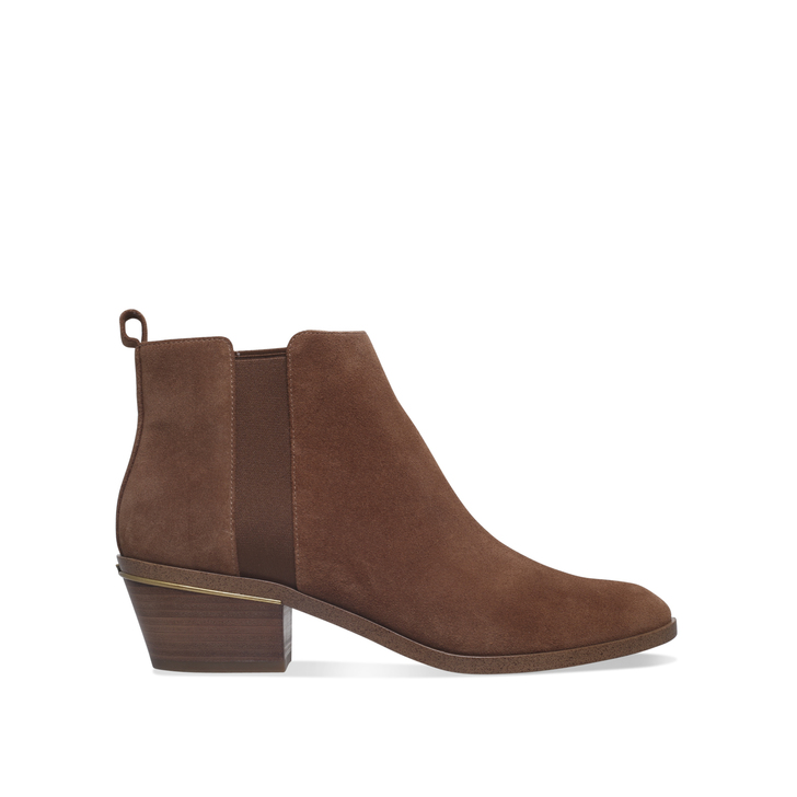 Crosby Bootie Camel Mid Heel Ankle Boots By Michael Michael Kors | Kurt  Geiger