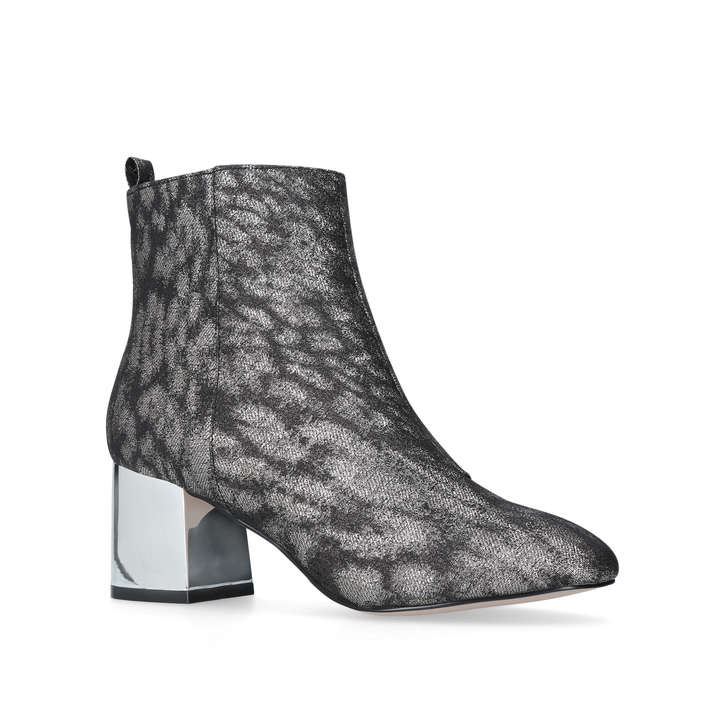 311cab78175 Tilly Gunmetal Mid Heel Ankle Boots By Miss KG