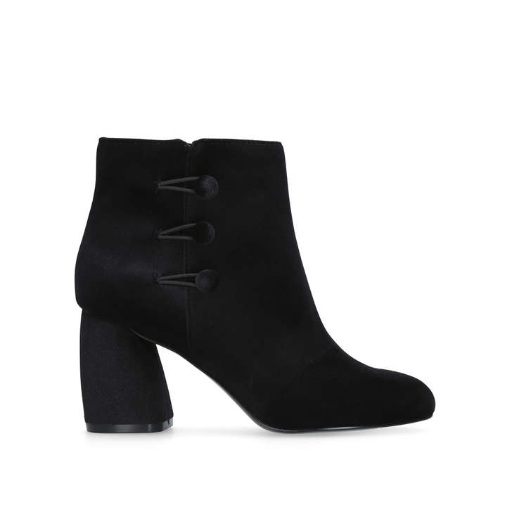 Khraine Black Mid Heel Ankle Boots By Nine West  9a85e29bc