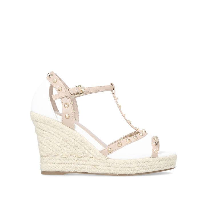 free shipping sale online White 'Stark' high heel wedge sandals sale deals supply cheap online lDkjh4