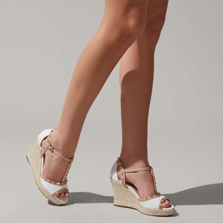 8f52bcb189 Stark White Espadrille Wedge Sandals By Carvela | Kurt Geiger