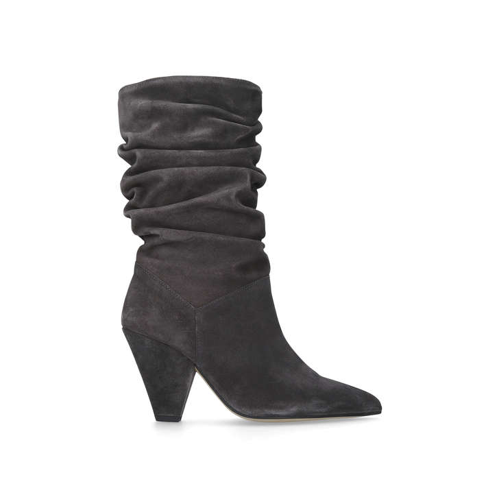Carvela Scrunch - grey mid heel calf boots Amazing Cheap Low Shipping Cheap With Paypal Buy Cheap Store Reliable vMVRxxR