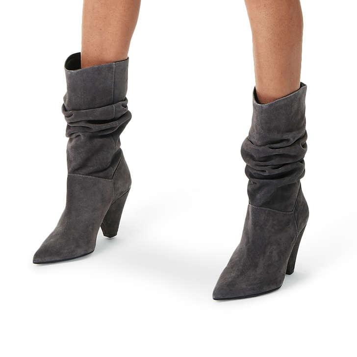 Grey Mid Heel Shoes