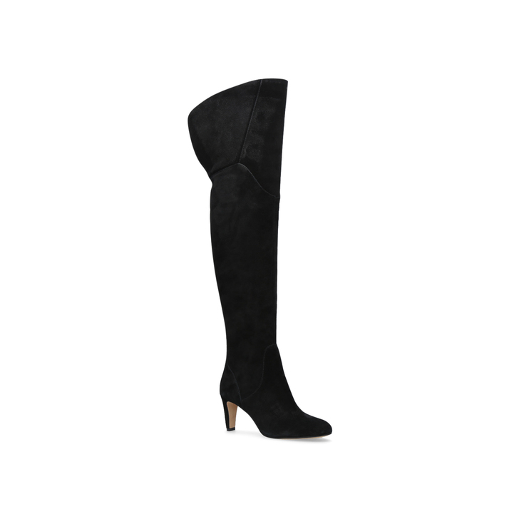 ec45761b291 Armaceli Black Mid Heel Thigh High Boots By Vince Camuto