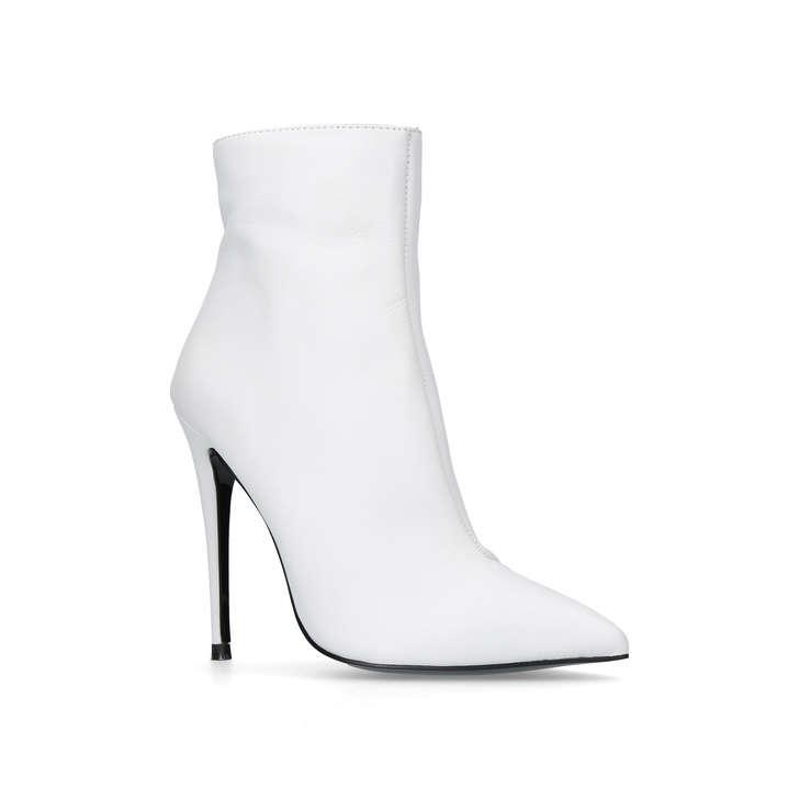 e42d38e3650e Ride White High Heel Ankle Boots By Kurt Geiger London