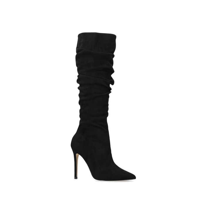 Prompt Black High Heel Knee Boots from Carvela