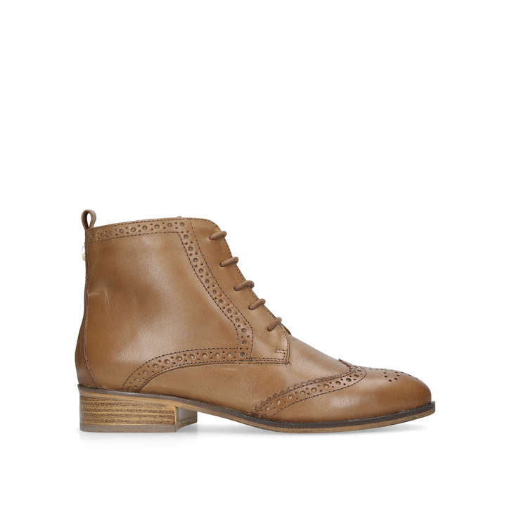 0273a513736f1 Toby Tan Flat Lace Up Boots By Carvela | Kurt Geiger