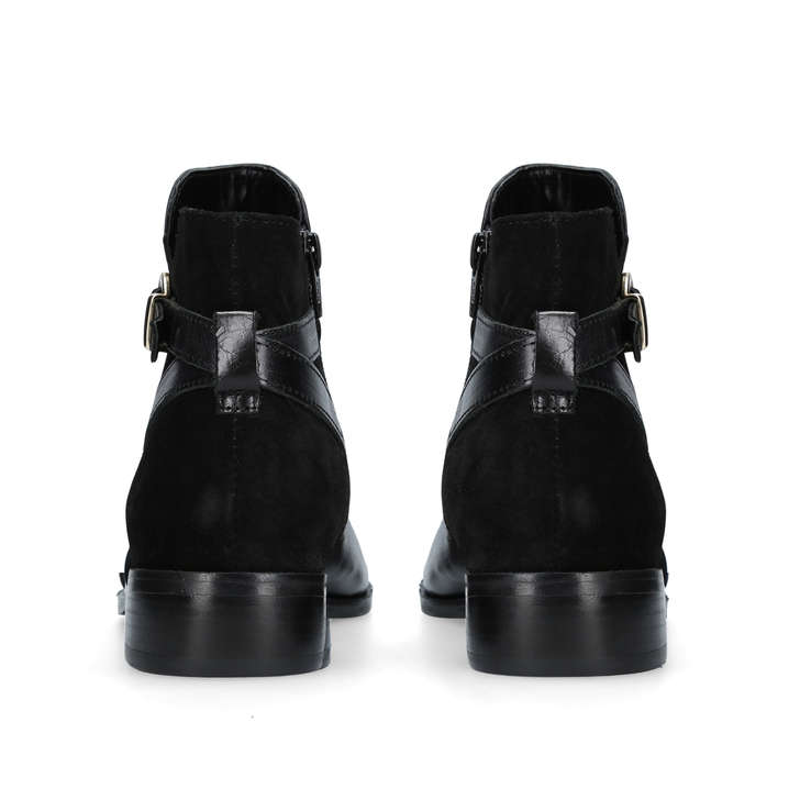 82faa7dbe Titan Black Flat Ankle Boots By Carvela