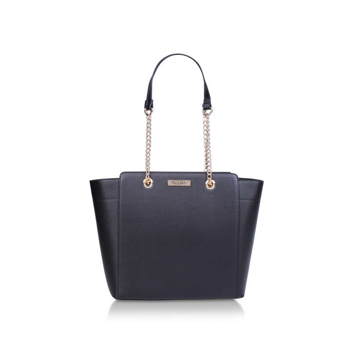 Rate Tote With Part Chain Black Tote Bag By Carvela  ee4fcf6956df
