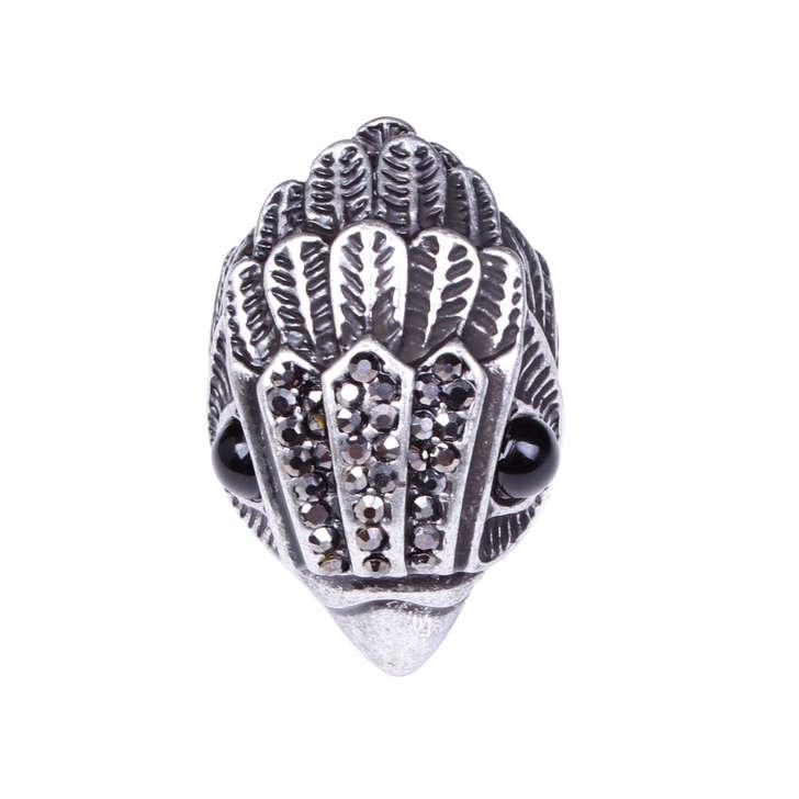 Eagle Ring Gunmetal Ring By Kurt Geiger London Kurt Geiger