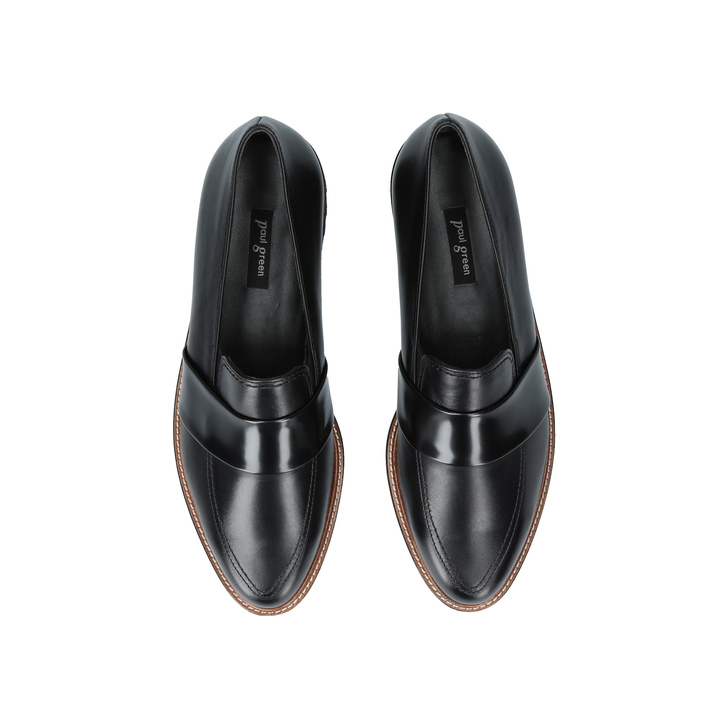 2ca5cf7b0d6 Alice Loafer Black Flatform Loafers By Paul Green
