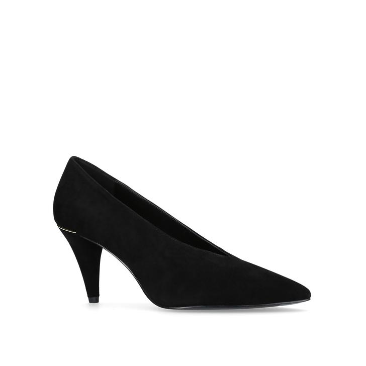 c2887424a9fc Lizzy Mid Pump Black Mid Heel Court Shoes By Michael Michael Kors ...