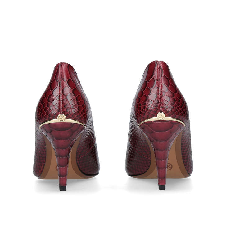 Lizzy Mid Pump Red Mid Heel Court Shoes