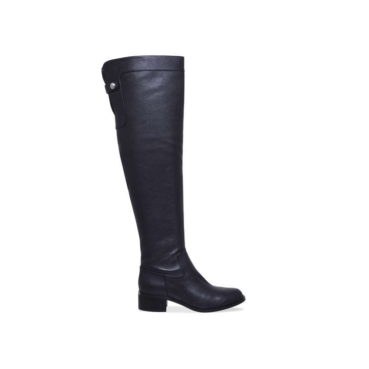 3516887b4e3 Finn Otk Boot Black Low Heel Over The Knee Boots By Michael Michael ...