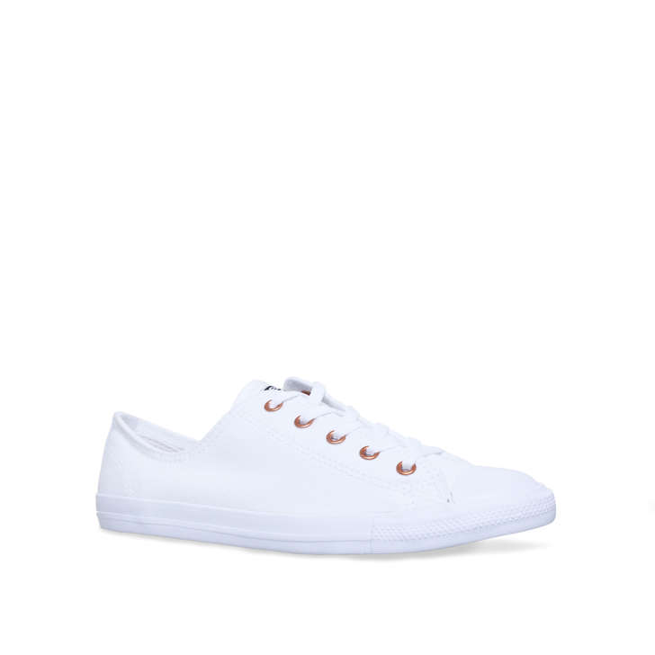 05e4ea96e1aa Ct All Star Dainty Ox White Flat Sneakers By Converse