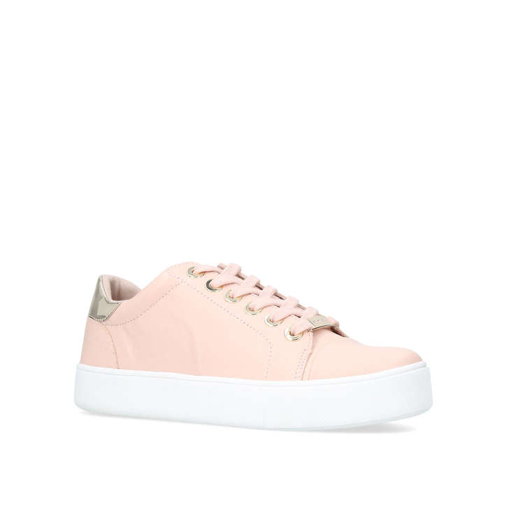 Loot. Nude Low Top Trainers
