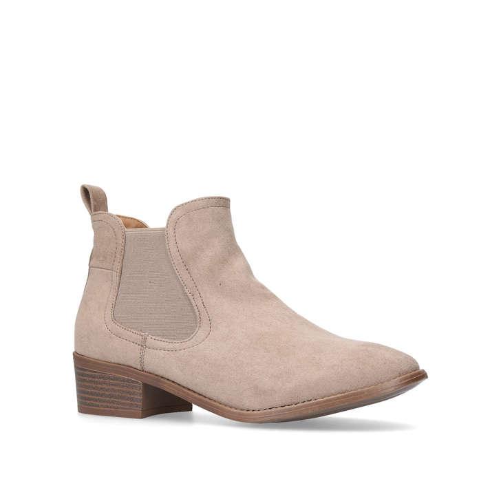 0d2eebf76b9138 Toby Beige Low Heel Ankle Boots from Miss KG
