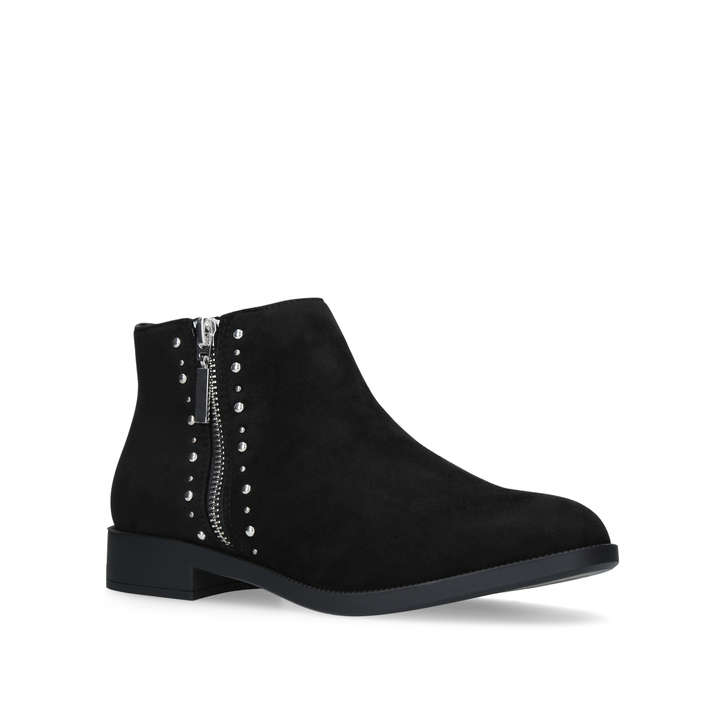 Sophie Black Flat Ankle Boots from Miss KG