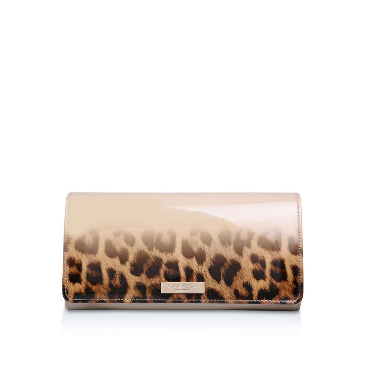 Alice Nude Clutch Bag, Leopard Print By
