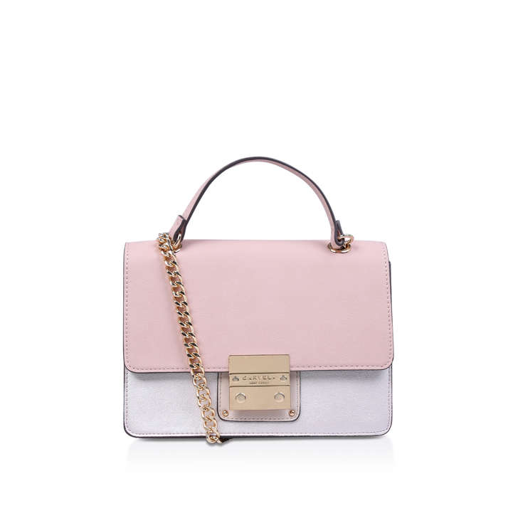 Sky Colour Block Xbody Pink Cross Body Bag By Carvela  8d4c81ffb527