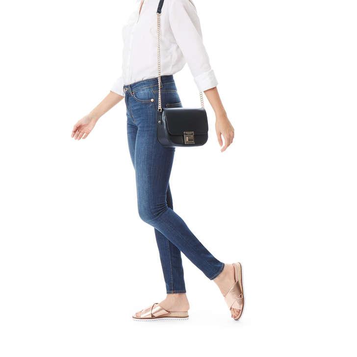 Sara Clean Saddle Bag Black Cross Body Bag By Carvela  1af387ab169bd