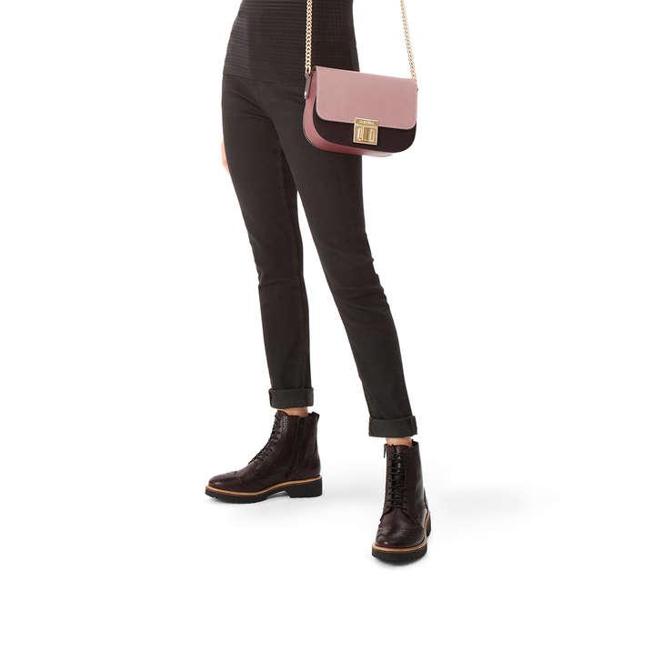 Sara Clean Saddle Bag Pink Shoulder Bag By Carvela  9606df9d003ed
