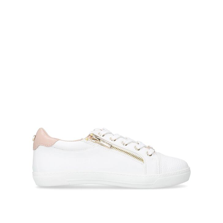 JAGGED White Zip Sneakers by CARVELA